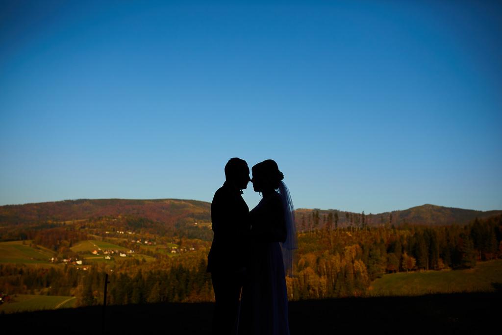 Fotograf ślubny, plener w górach, Wisła