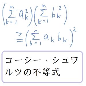 コーシーシュワルツの不等式