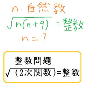 整数問題 √(2次関数)=整数