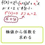 極値から係数を求める方法