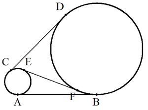 共通接線の例題