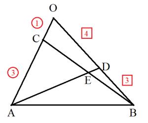 メネラウスの定理をベクトルで