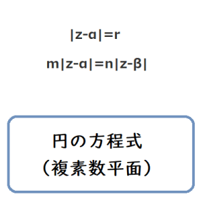 円の方程式(複素数平面)