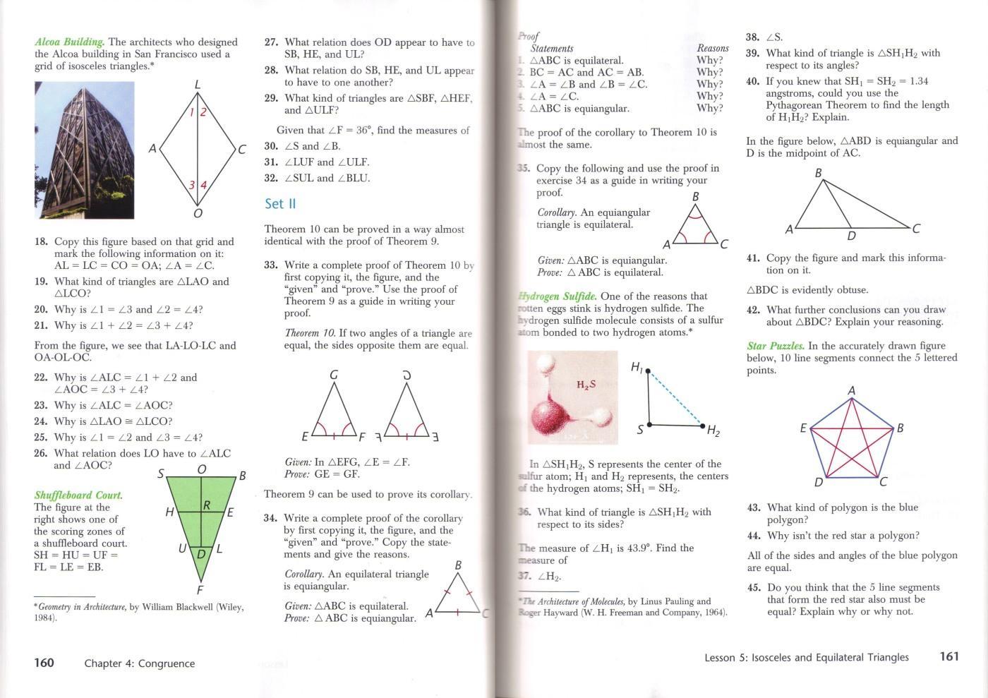 Math Worksheets High School Geometry