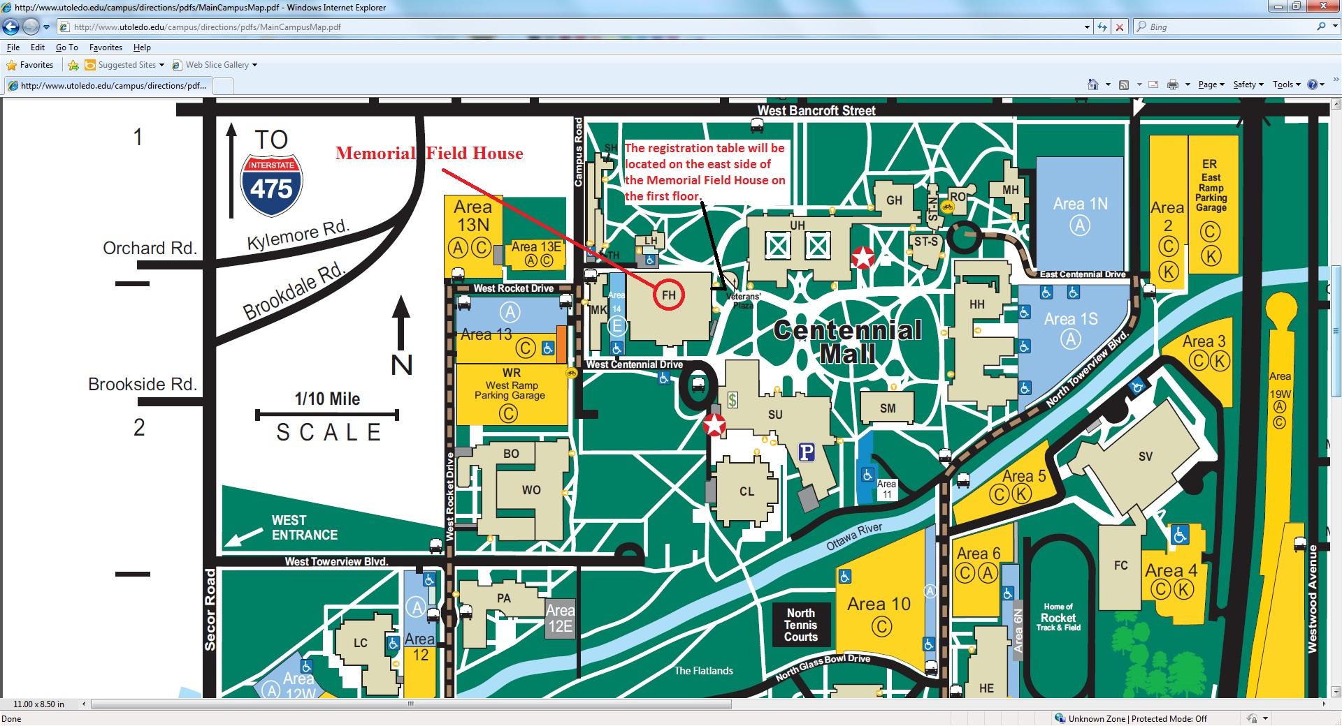 University Toledo Campus Map