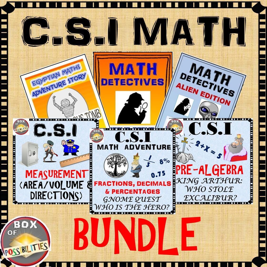 Csi Math Activity And Story Bundle