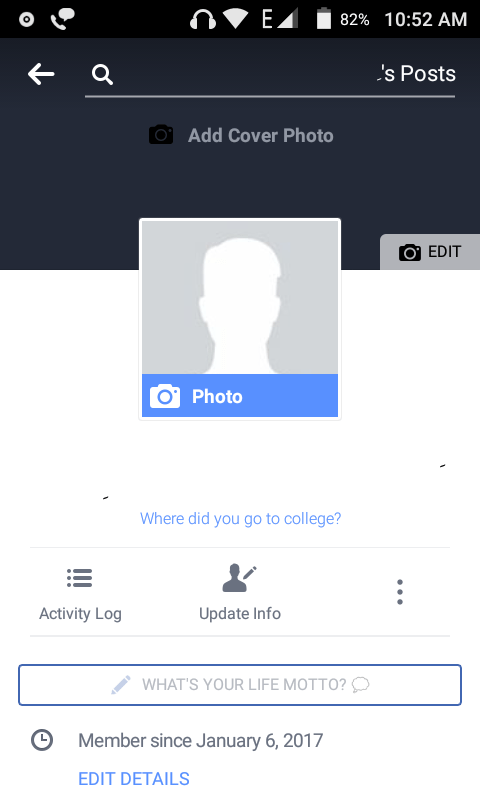 Invisible Nameless Blank Facebook Account
