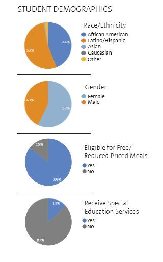 Figure 2: KIPP Academy New York (South Bronx) Student Demographics