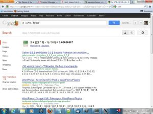 GOOGLE Quick Calculator Screenshot