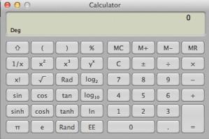 Mac OS X Scientific Calculator