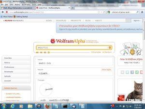 Wolfram Alpha Screen Shot