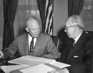 President Eisenhower and Lewis Strauss