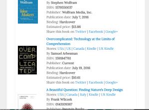 July 2016 Noteworthy Math Books