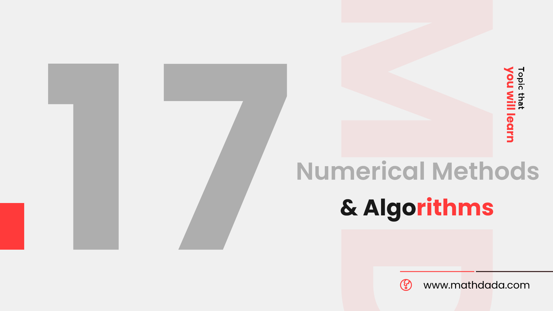 Numerical Methods & Algorithms