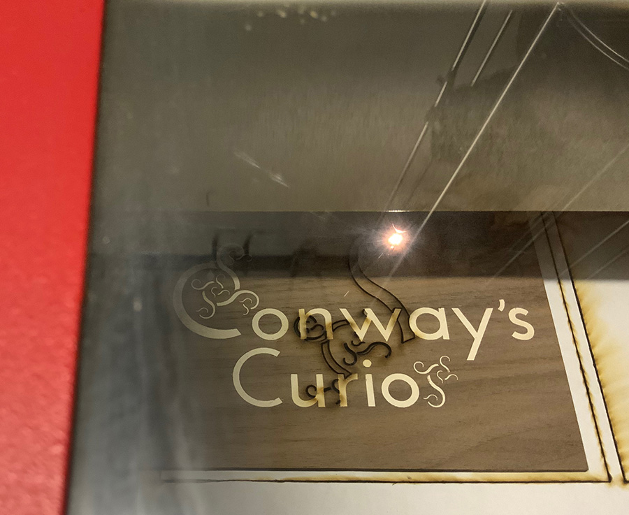 Conway's Curio Shop Sign by Edmund Harriss