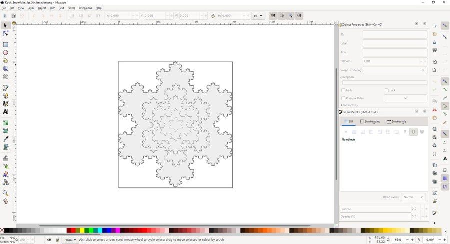 Overlapping Koch snowflakes
