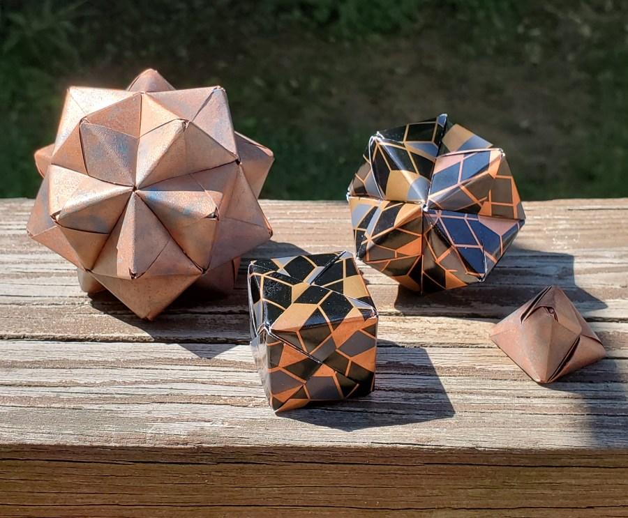 origami in Mathemalchemy by Faye Goldman