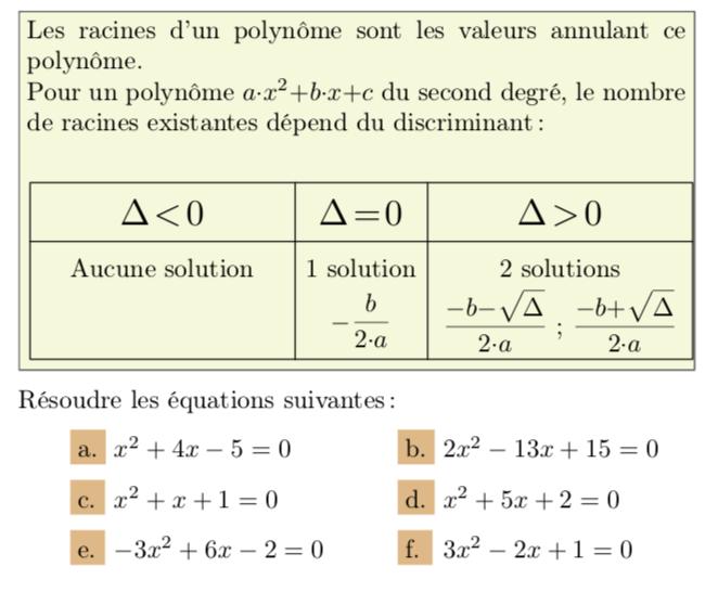 Tutos_1S_SECOND DEGRE - MathematxLab