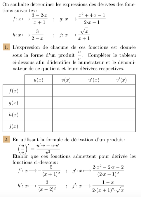 Tutos 1s Nombre Derive Tangente Calcul De Derivee Mathematxlab