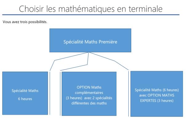 Garder les maths en terminale ? …