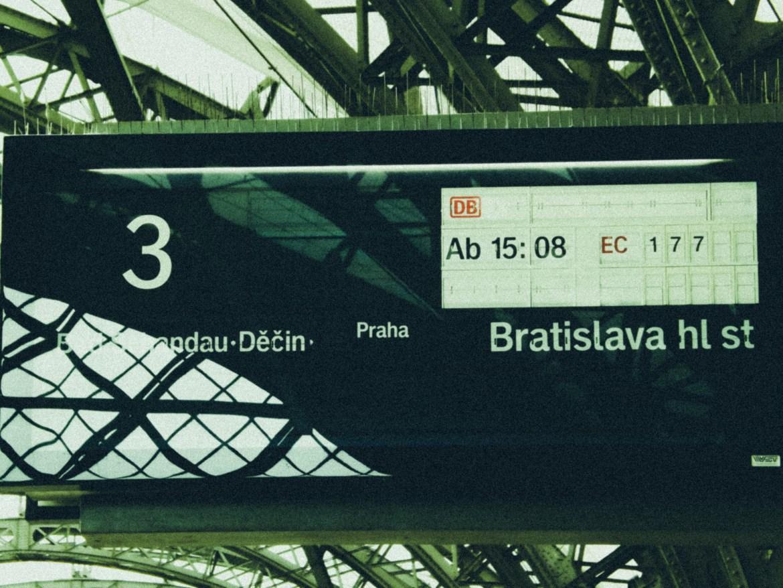 Estação Central de Dresden, Alemanha.