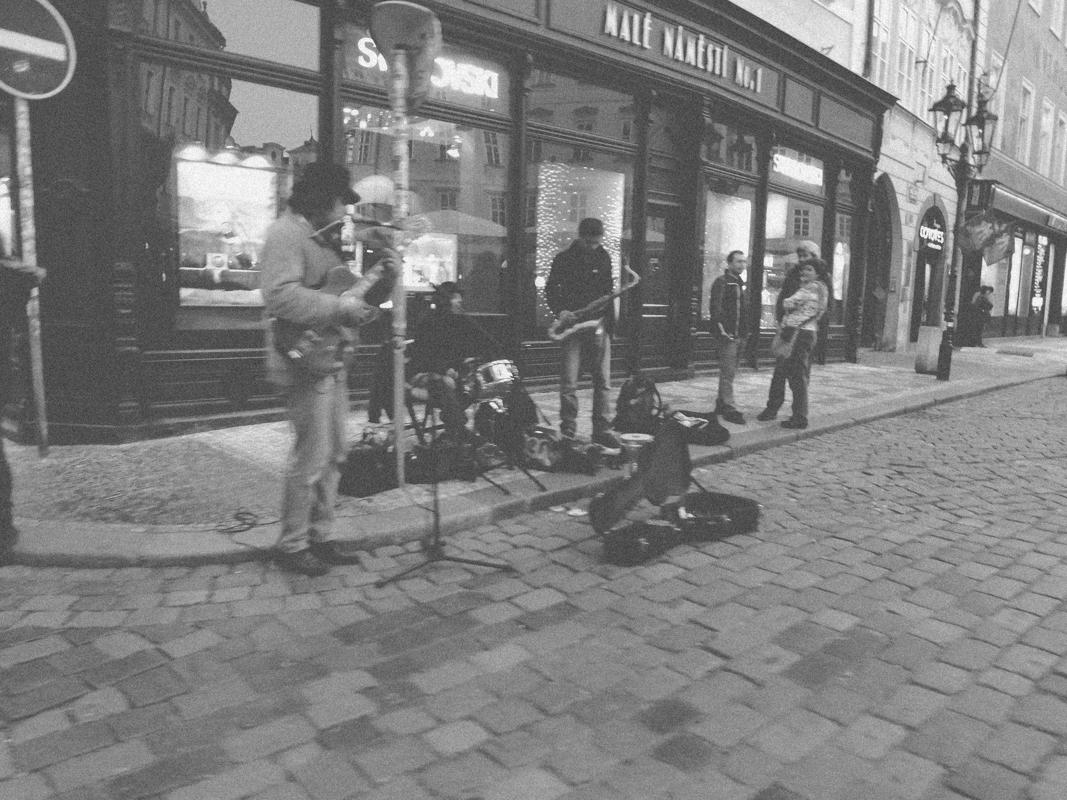 Músicos em Praga, República Tcheca