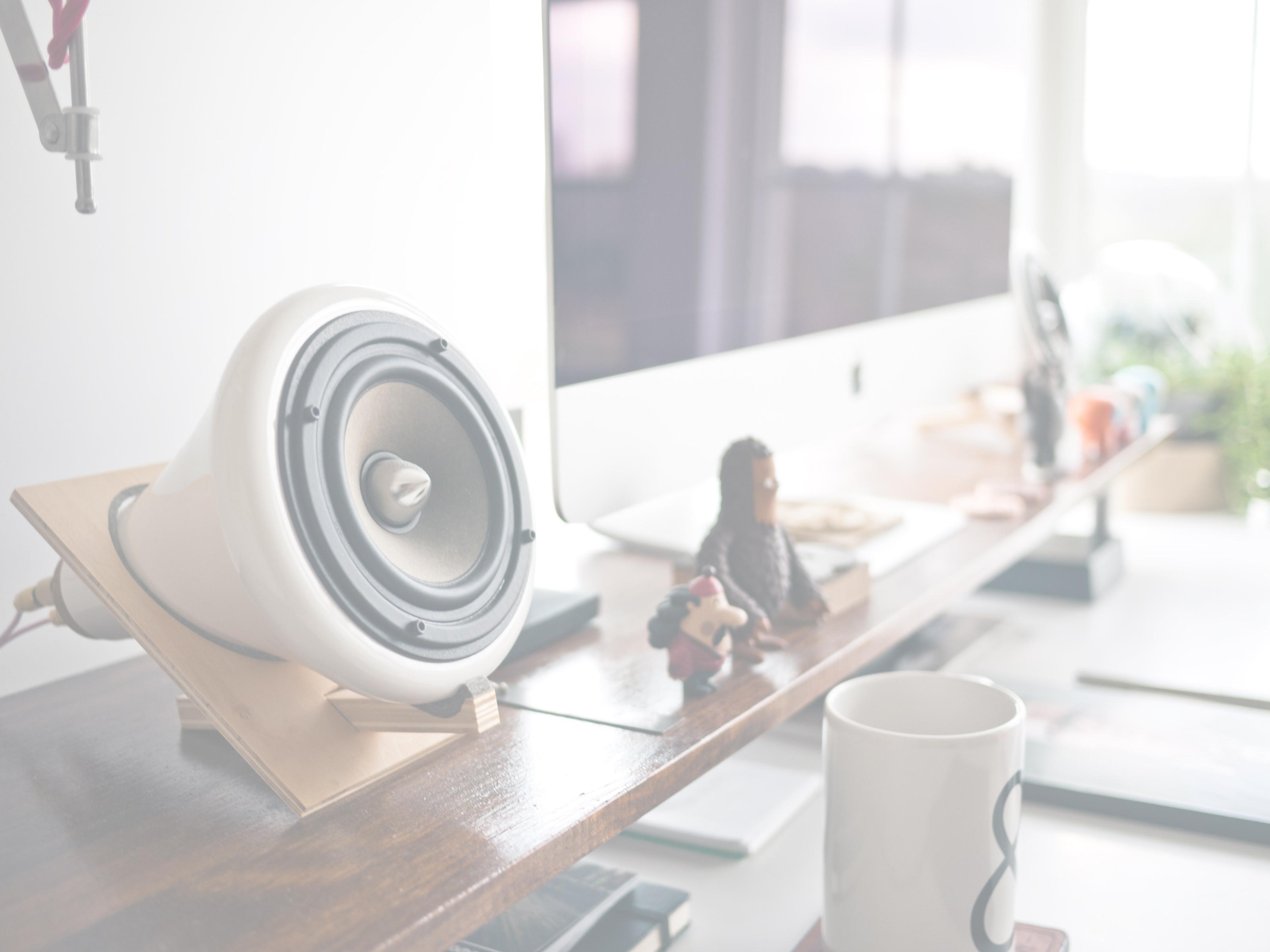 música no escritório
