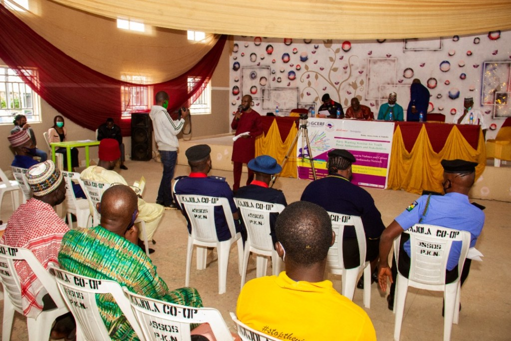 IGSR Organises Early Warning Seminar for 250 Youth Peace Ambassadors and Community Members in Plateau Central Senatorial Zone 1