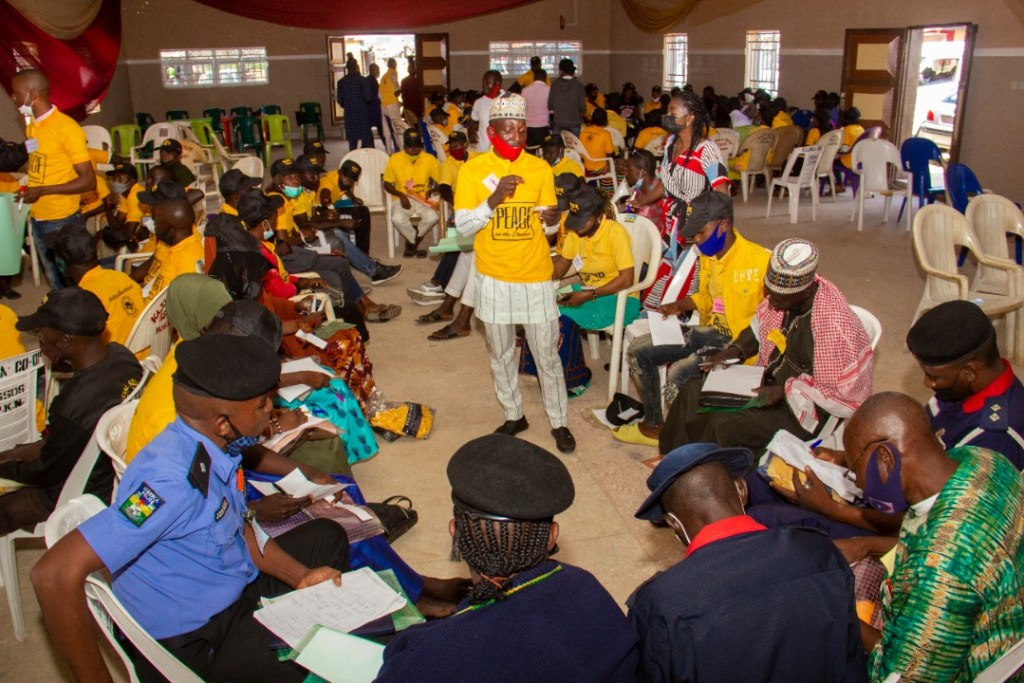 IGSR Organises Early Warning Seminar for 250 Youth Peace Ambassadors and Community Members in Plateau Central Senatorial Zone 7