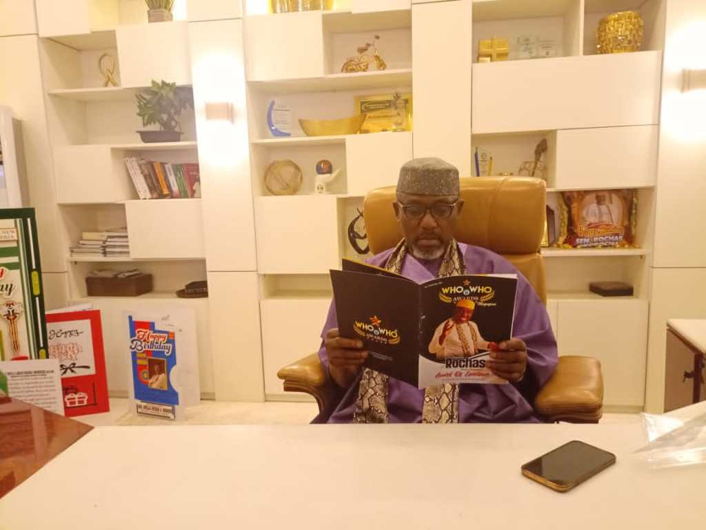 Sen Rochas Okorocha receives Nigeria's most expensive award Who Is Who Stand Of Fame 1