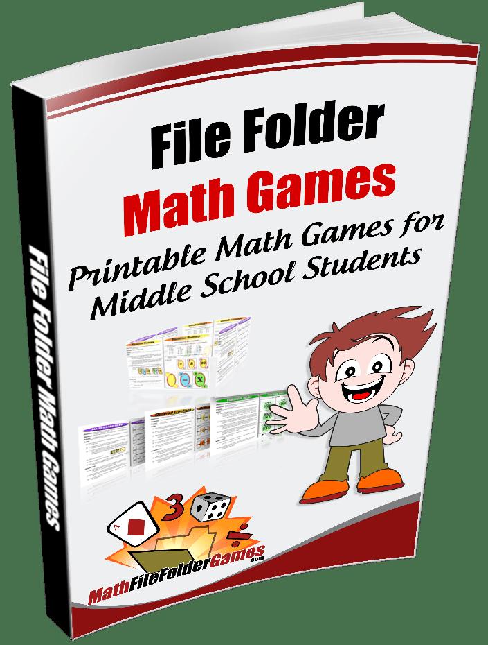 photograph regarding Printable File Folder Game known as Printable Math Game titles