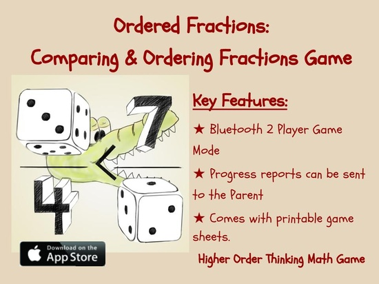Ordered Fractions Math Game App