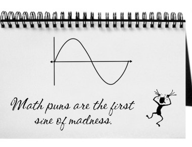Math puns are the first sine of madness.
