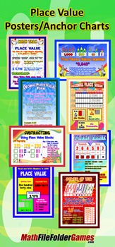 Place Value Posters/Anchor Charts with Cards