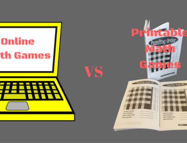 Online Math Games VS Printable Math Games