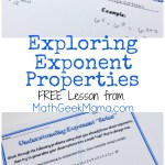 Free Exponent Properties Lesson Math Geek Mama