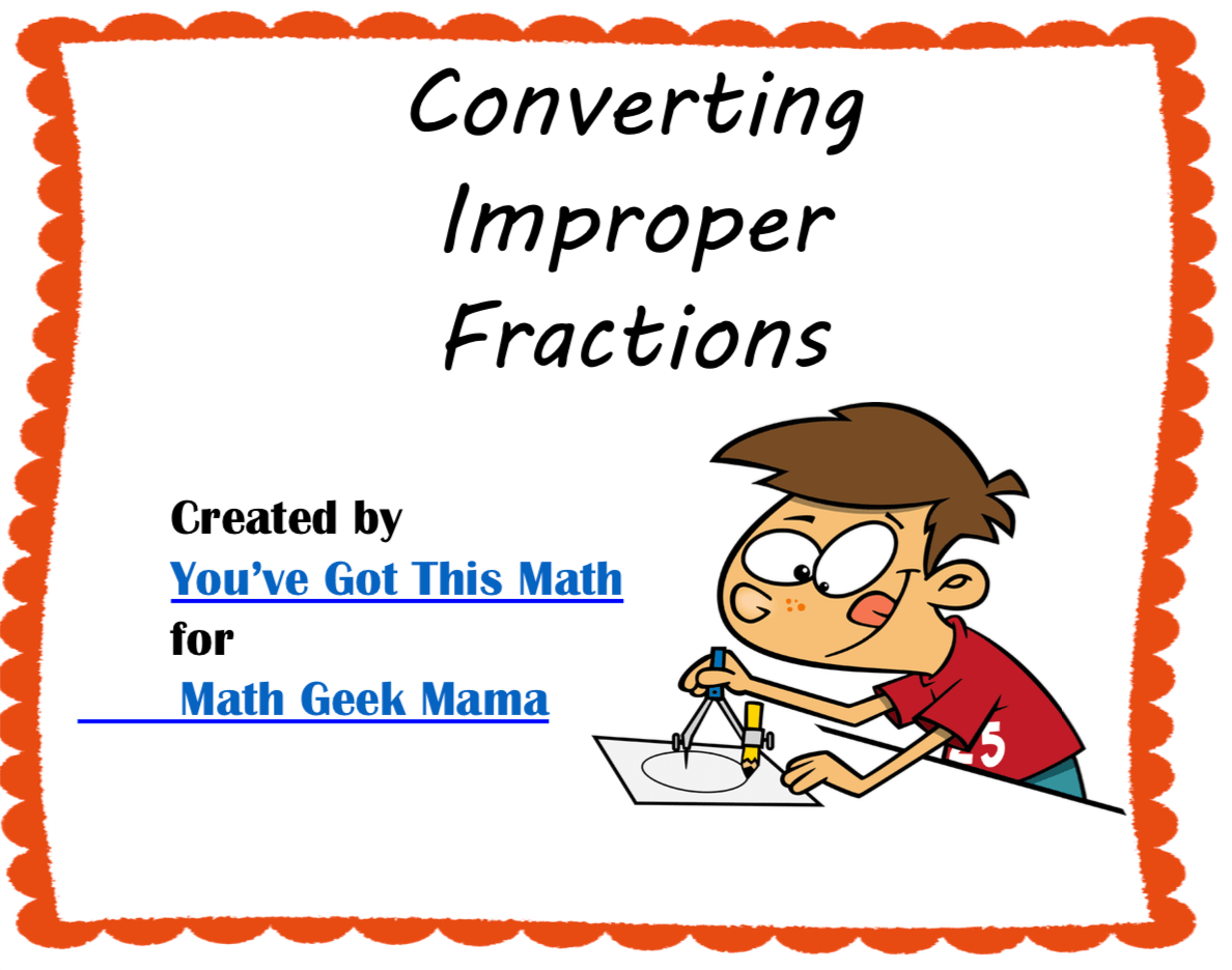 Free Convert Improper Fractions To Mixed Numbers Using Visuals