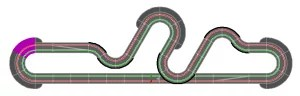 Carrera Bahn: 5m Vollgas und 7m Kurven