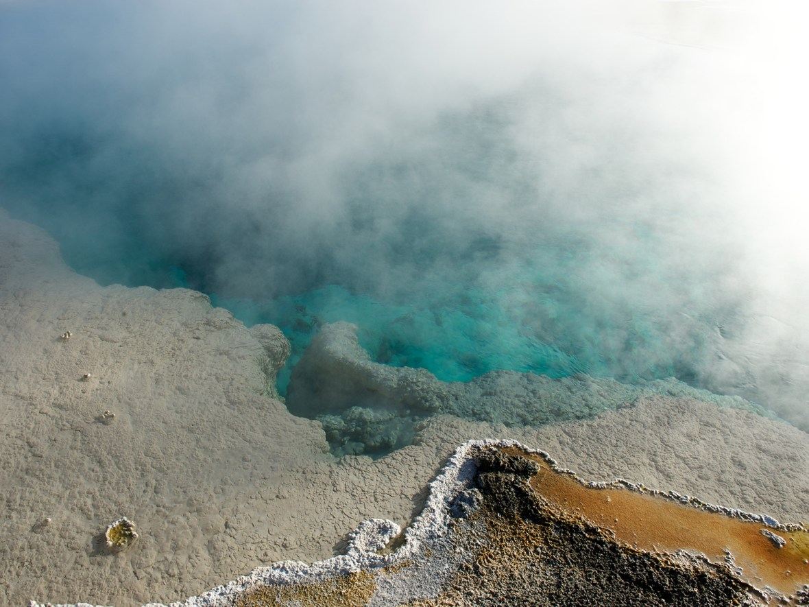 hot springs geysers in Yellowstone National Park, Wyoming, USA