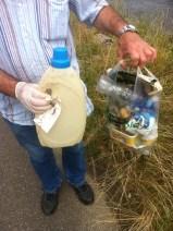 spontane Müllentsorgung am Rhein Juli 2014