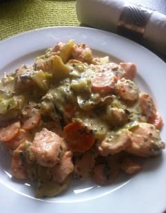 Panfisch auf dem Teller