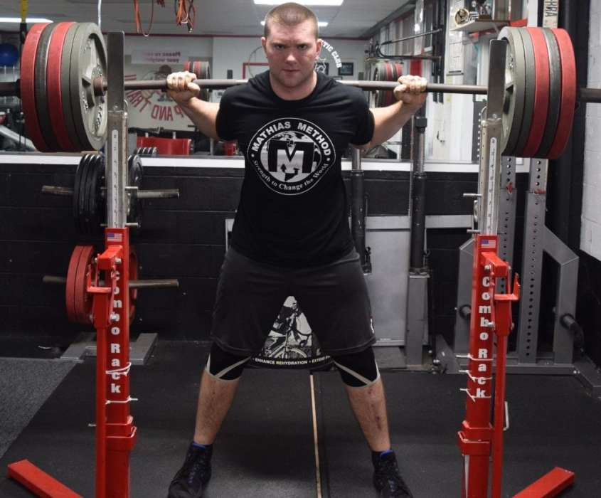 strength coach ryan mathias squat 545