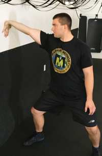 Bicep and Forearm Wall Stretch 8