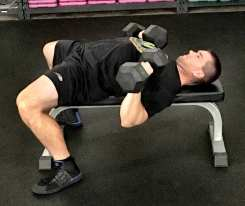 Dumbbell Press Chest Strength Exercise 3