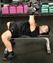 Dumbbell Press Chest Strength Exercise 2