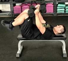 Dumbbell Press Chest Strength Exercise 1