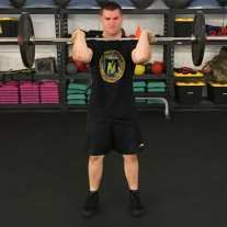 Front Squat Leg Strength Training Exercise 3