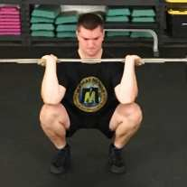 Front Squat Leg Strength Training Exercise 1