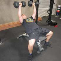 Incline Dumbbell Press Exercise 2