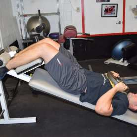 Weighted Decline Abdominal Crunches 6